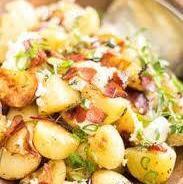 Salade de patates grelots, maïs et bacon
